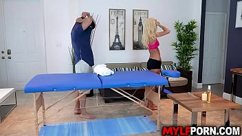 Ever Hotness MILF Olivia Blu got horny while doing a massage with stepson and gave him a massage fuck until they both satisfied with a happy ending. thumbnail