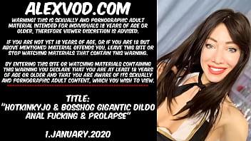 2020 Hotkinkyjo & BossHog dildo anal fucking & prolapse