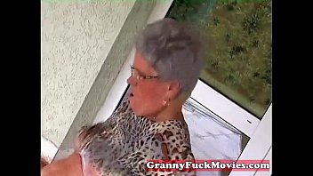 Grandma fetish - Young stud fucking old fat granny