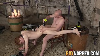 Redhead twink ass dominated by dom after feet worshiping