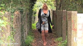 lucy zara blonde outdoor peeing relief