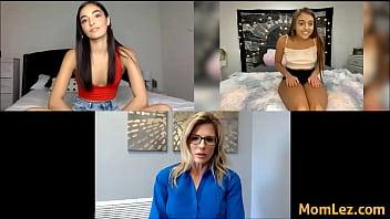 Mom Monitors Daughters Video Calls