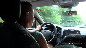 Outdoor anal with his driving school student