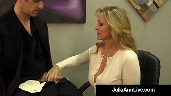 Adult Award Winner Julia Ann Drains A Cock With Hot HandJob!