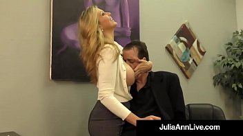 Hand in vagina Adult award winner julia ann drains a cock with hot handjob