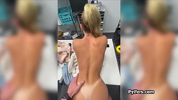 Emma Hix busted and fucked for stealing merchandise