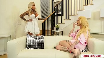 Horny shemale analed by boyfriend TS sister