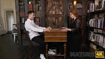 MATURE4K. Chess game ends for mature and her young rival with hot sex 10 min