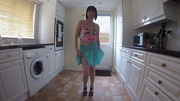Skinny small tits dancing striptease