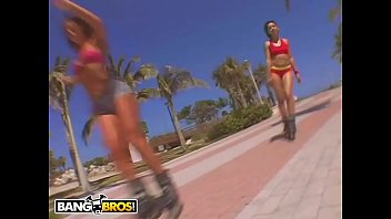 Holla ass Bangbros - throwback thursday: rollerblade booty with naomi and sabara