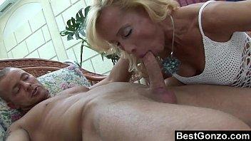 Mature Blonde Sucks And Fucks