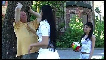 Femdom actions - 2 amateur girls in femdom action outdoor in high heels - trampling, footworship