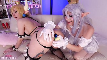 Bowsette and Boosette fuck holes Purple Bitch AliceBong cosplay full hd anal teen