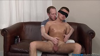 Perverted twink has fun with his blindfolded boyfriend