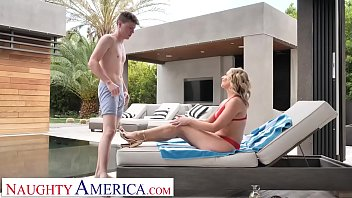 Milf poolside Naughty america elle mcrae fucks sons friend poolside