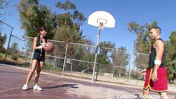 Hot asian chick fucking her basketball coach