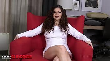 Big Boobed Venezuelan Vixen Katie Gets Surprised By A Big Black Cock!
