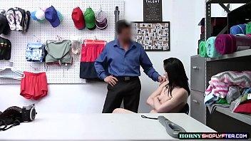 LP Guy stuggles fucking Shoplifter Aliza Haze tight pussy porn image