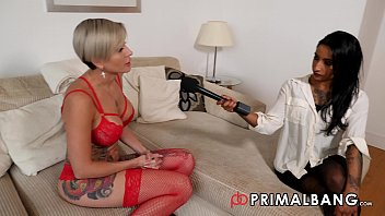 Slutty Indian Television Presenter organises a interracial shag for horny Russian Model PrimalBang
