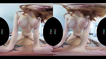 VRHUSH Redhead Scarlett Snow rides a big dick in VR