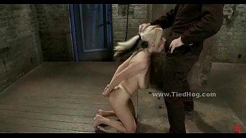 Blonde Hog Tied Used As Cock Toy