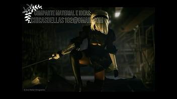 Automated dildos 2b nier automata cosplay disharmonica