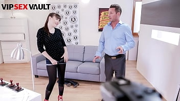 EXPOSED CASTING - (Luna Rival & David Perry) Cute French Teen Fucks On Set With A Naughty Agent