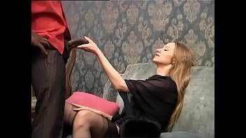 Milf on monster cock - Sweet blonde is about to be buggered by a huge black cock