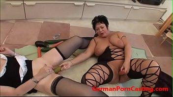 Two Amateur German MILFs Masturbate - GermanPornCasting.com