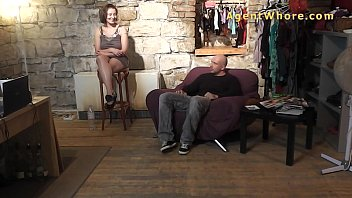 Casting guy gets hanjob and tease from BUSTY milf 6 min