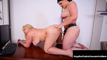 BBW Attorney Angelina Castro Strap-On Bangs Karen Fisher!