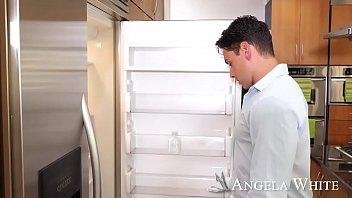 Aussie Angela White's big tits get milky - Naughty Ameirca