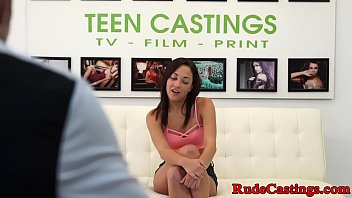 Innocent teen pussy banged at casting
