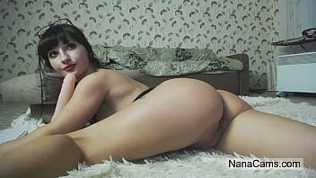 Big Ass Brunette Rides Dildo on Live Webcam - NanaCams.com 10 min