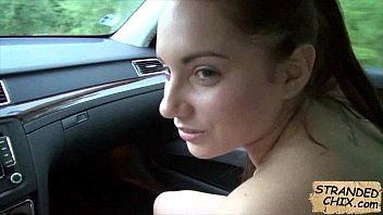 Amateur babe blowjob while driving Jenny Dark.1.3