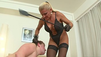 Tough mistress having fun with her boy toy and getting satisfied 10 min