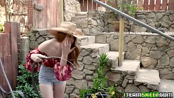 Redhead Slut Gets Lifted Up For A Hard Pussy Pounding!