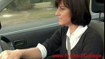 Sexy MILF Masturbates in Her Car, Free Porn 9 min