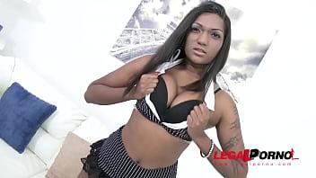 Dark Indian slut Saritha 3on1 interracial anal DP and Squirt