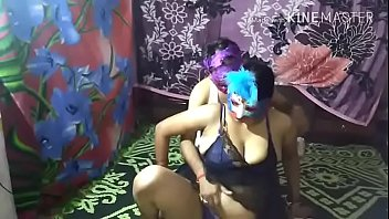 Image: hot mature indian mom foreplay with her son
