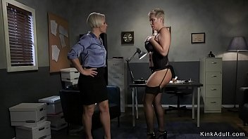 Lesbian divorce lawyer anal fucks sub