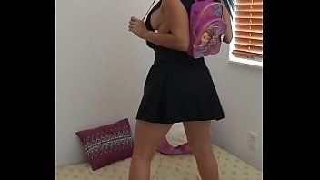 Xania Lombar - My high school uniform and toys, my tits shot breast milk.