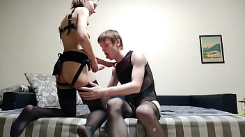 Femdom strapon fuck femboy russian submissive slut rimjob bdsm fetish porno izle