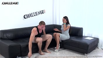 Muscle dude try his best to convince Mea Melone but failed