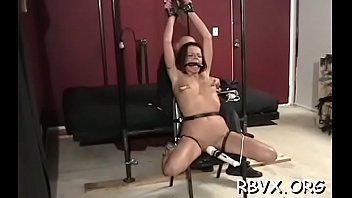 Ball gag video free bondage - Robust tattooed wench gets ball gagged and bounded taut