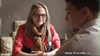 Cute Teen Glasses Girl Get FUCKED HARD 10 min