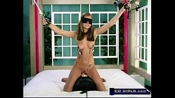 amazingly hot brunette bondage sybian