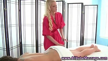 Lesbian masseuse gets hot