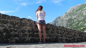 Windy Upskirt and No Panties in Public porno izle