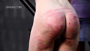 Blonde slave in BDSM action 2 min